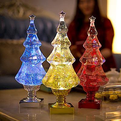 法國三寶貝 樹造型LED創意夜燈桌燈 七彩紅金 三色挑選