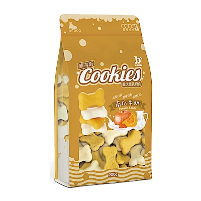 寵愛物語-庫吉斯 愛犬營養間食 犬用骨形餅 南瓜+牛奶風味200g(3包組)