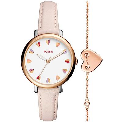 FOSSIL Jacqueline 就是戀上妳時尚套錶組-36mm