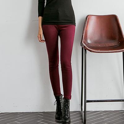 正韓-基本百搭款顯瘦磨毛窄管褲-共七色-N-C21