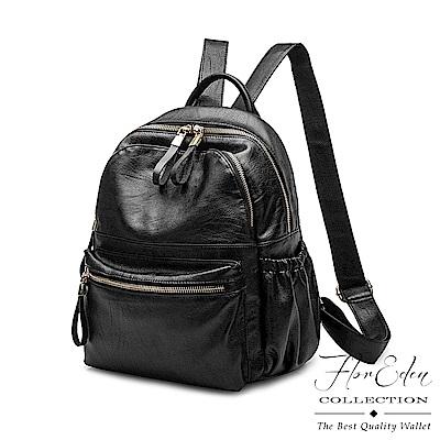 DF Flor Eden - 人氣日系複合羊皮革款時尚後背包