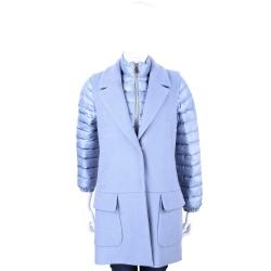 MARELLA-SPORT 水藍色兩件式拉鍊羽絨外套(附背心)