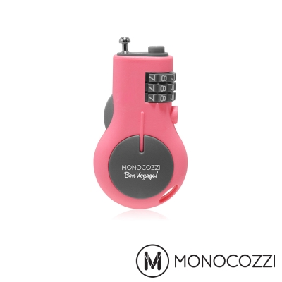 MONOCOZZI RETRACTABLE LUGGAGE LOCK 旅行伸縮密碼鎖-粉紅