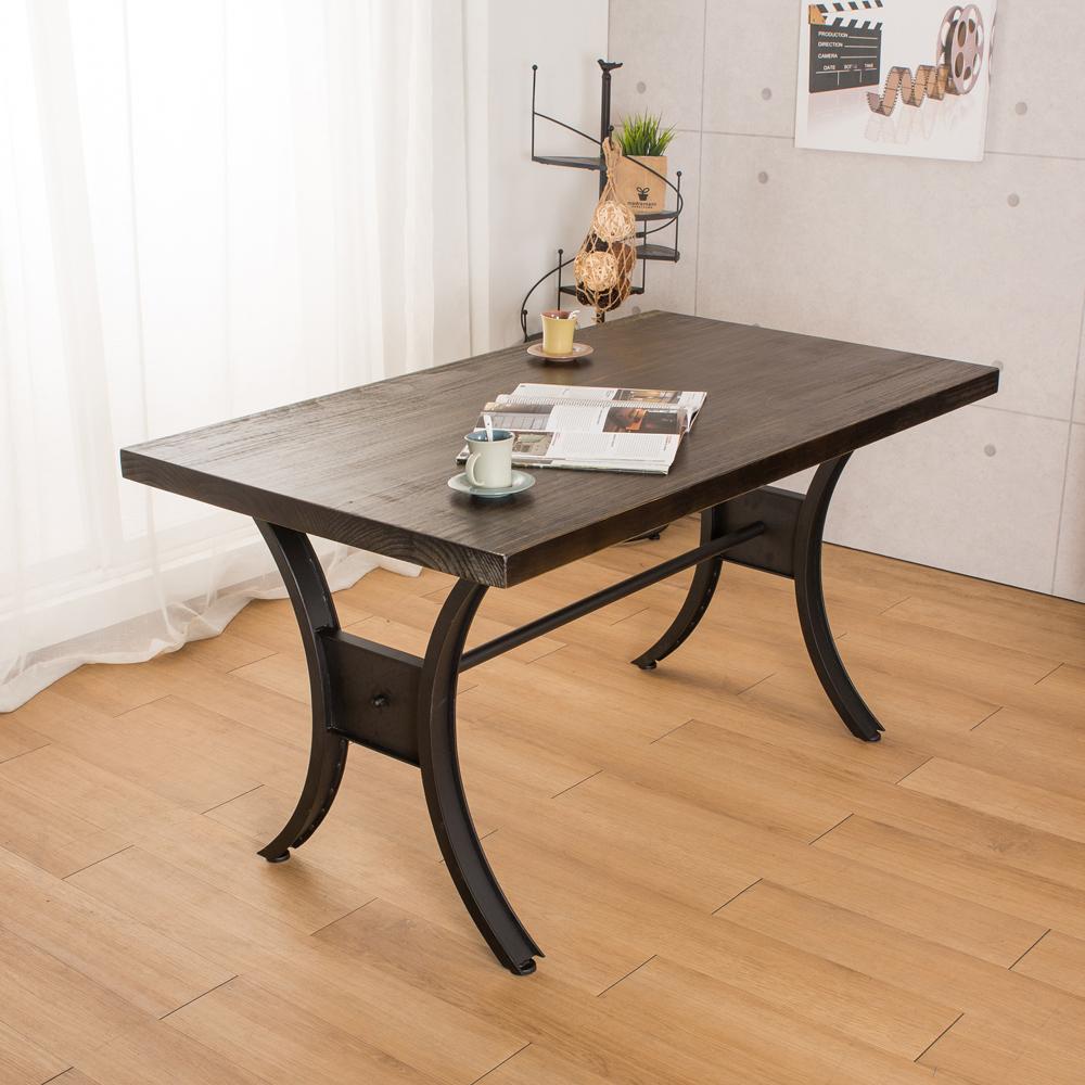 微量元素 手感工業風美式餐桌-長140X寬80X高76公分