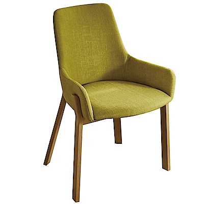 AT HOME-喬恩麻紗綠布鐵藝餐椅