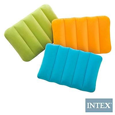 INTEX 彩色充氣枕 3色隨機 (2入組) (68676)