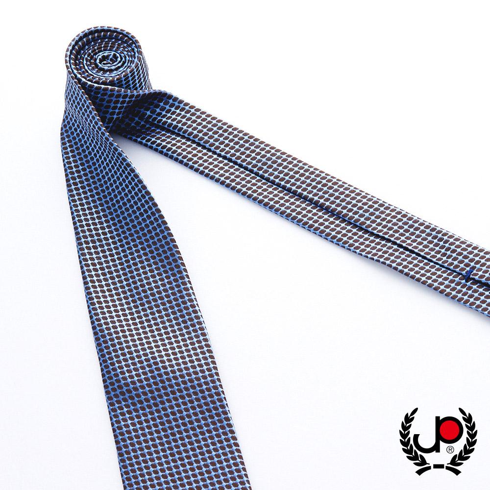 極品西服 100%絲質義大利手工領帶_咖啡格紋(YT5083)