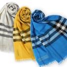 BURBERRY 經典格紋款羊毛絲綢圍巾 (多色)任選$9999