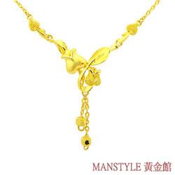 Manstyle「馨香花語」黃金小套鍊