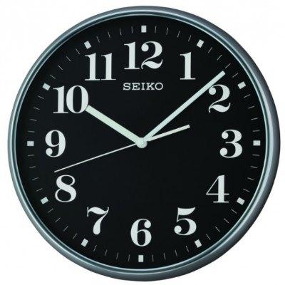 SEIKO 日本精工 數字 滑動式秒針 掛鐘 時鐘(QXA697K)-黑/35cm