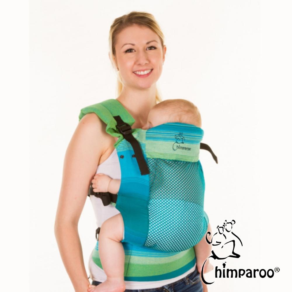 加拿大 Chimparoo Trek Air-O 透氣嬰兒揹帶,萊姆
