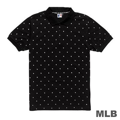 MLB-紐約洋基隊滿版印花POLO衫-黑 (男)