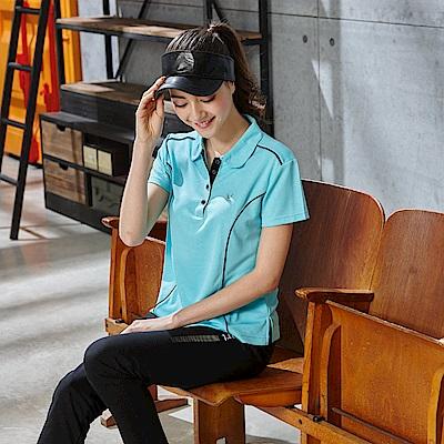 LEIDOOE英文花紋女款休閒短袖POLO衫16681