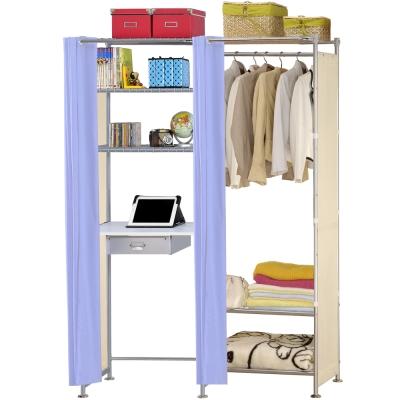 巴塞隆納-W3型60公分+E60公分電腦桌衣櫥架