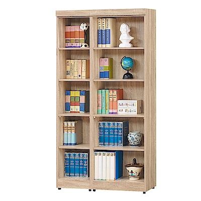 Bernice-達爾思3.3尺開放式書櫃/收納櫃/展示櫃組合-100x32x185cm