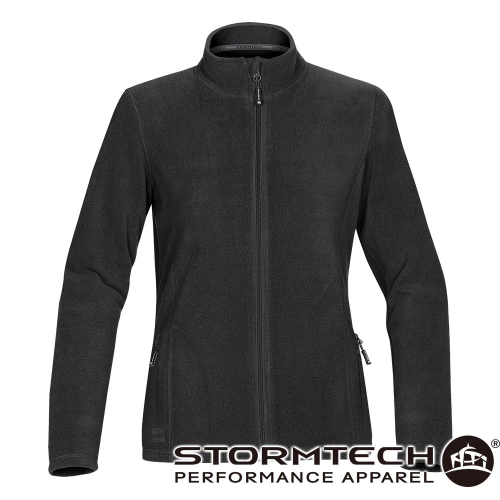 【加拿大STORMTECH】VFJ-1W中層FLEECE保暖拉鍊外套-女-黑