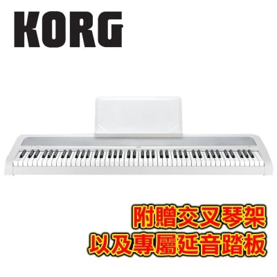KORG B1 WH 88鍵數位電鋼琴 古典白色款