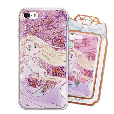 迪士尼 授權正版 iPhone 8/iPhone 7 閃粉雙料保護手機殼(樂佩)