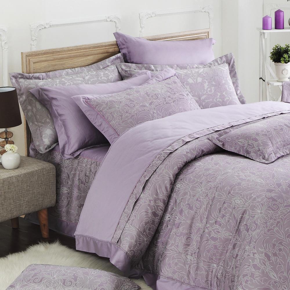 MONTAGUT-盛開的鳶尾花-精梳棉-加大七件式鋪棉床罩組