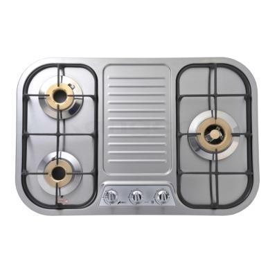 豪山牌 ST-3139 檯面式琺瑯/不鏽鋼三口瓦斯爐
