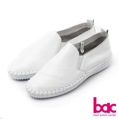bac北歐極簡-單色極簡外縫式內增高懶人鞋-白