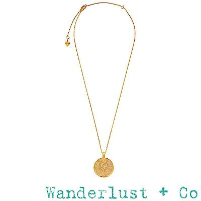 Wanderlust+Co 澳洲品牌 希臘月亮女神項鍊 金色錢幣項鍊 Selene