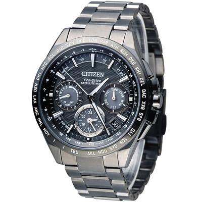 CITIZEN 星辰 鈦光動能GPS衛星計時腕錶(CC9017-59E)-43mm