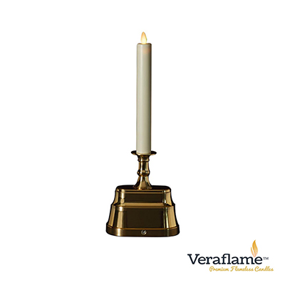 Veraflame 擬真火焰長條蠟燭台- 13吋(金)