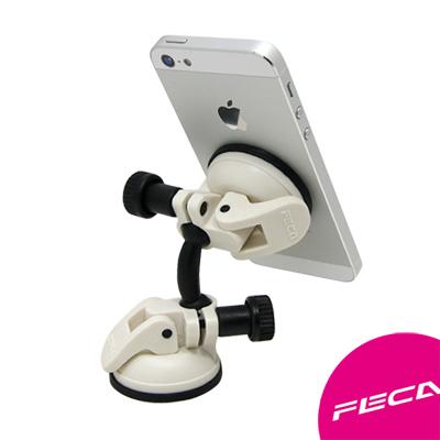 FECA非卡 無痕強力吸盤 360度旋轉萬用支架 白