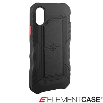 美國 Element Case iPhone X Recon軍用防摔防滑手機保護殼-匿蹤黑