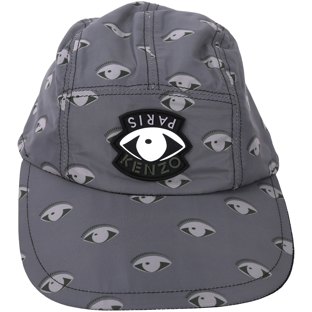 KENZO Eye Cap 眼睛圖騰設計棒球帽(灰色)