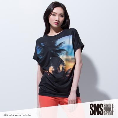 SNS 夏日風情印花T恤(3色)
