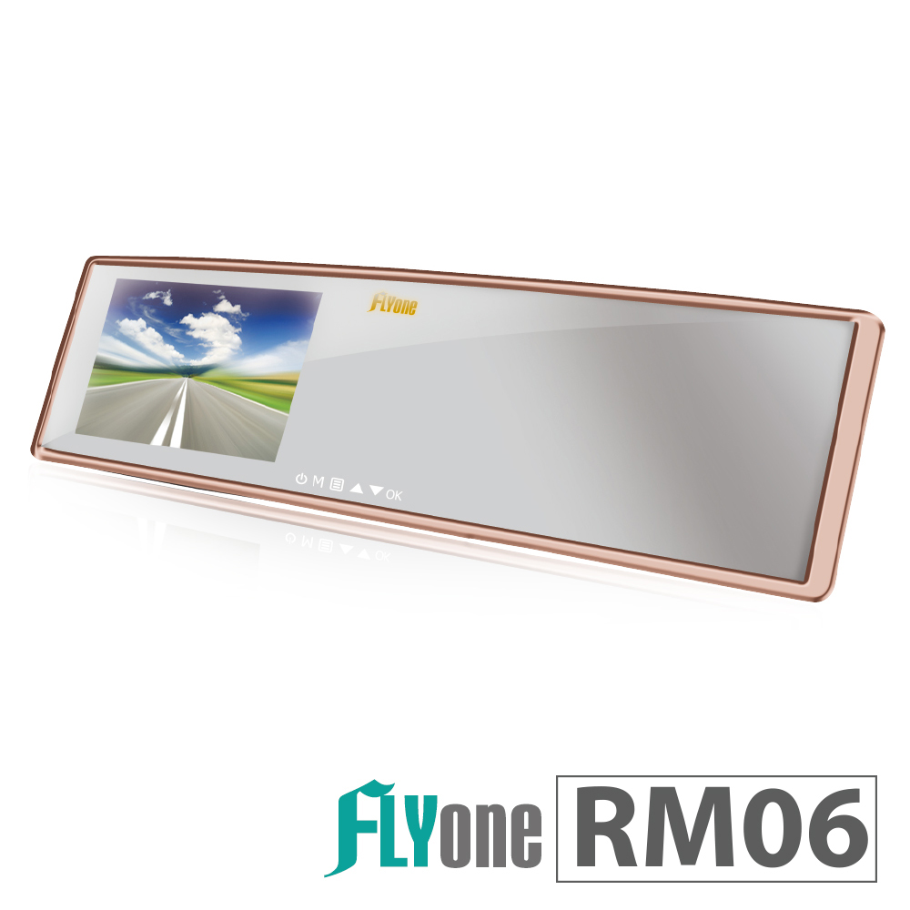 FLYone RM06 測速照相+ADAS+GPS軌跡 廣角曲面後視鏡行車記錄器-急速配 @ Y!購物