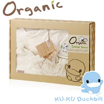 《KU.KU酷咕鴨》春夏有機純棉禮盒(0-6M適用)