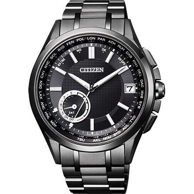 CITIZEN GPS光動能衛星對時限量鈦金屬腕錶(CC3015-57E)-黑/42mm