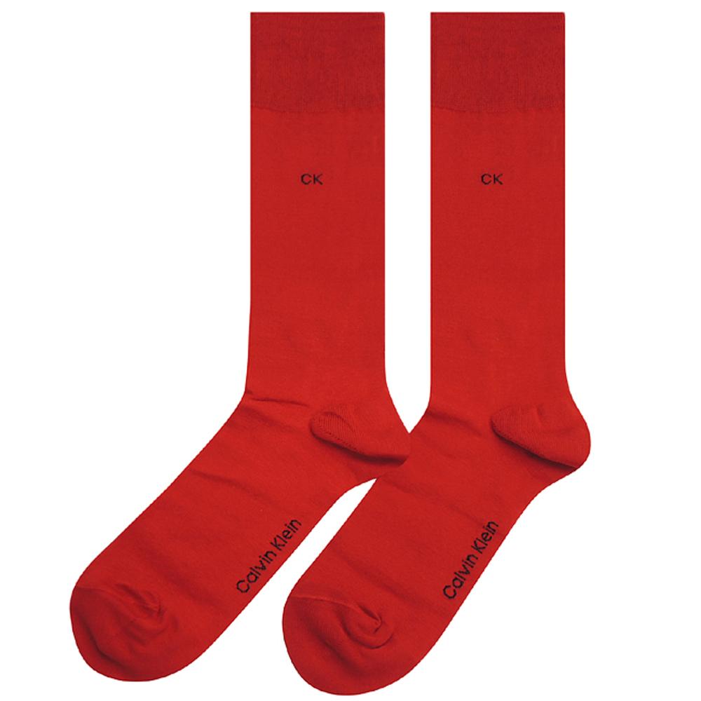 Calvin Klein 紅色棉質紳士襪