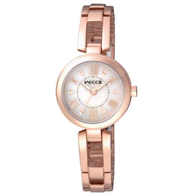 CITIZEN 傾訴愛戀時尚腕錶(BG3-929-11)-白x玫瑰金/24mm