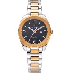 奧柏表 Olym Pianus 聚焦經典石英腕錶-雙色x黑/33mm   5706LSR