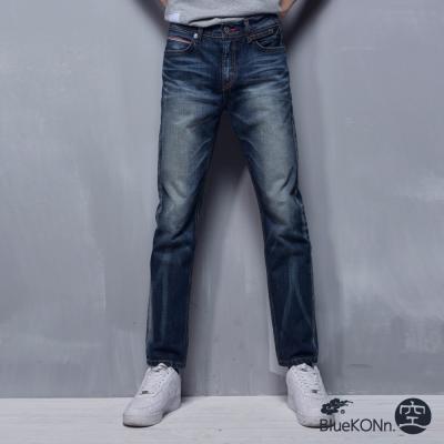空 BLUE WAY 布邊布低腰直筒褲