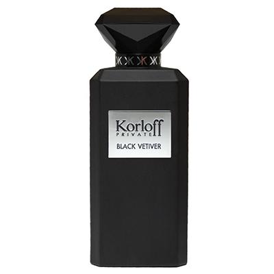 【即期品-2021.10】Korloff PRIVATE BLACK VETIVER 黑鑽神話男性淡香水 88ml
