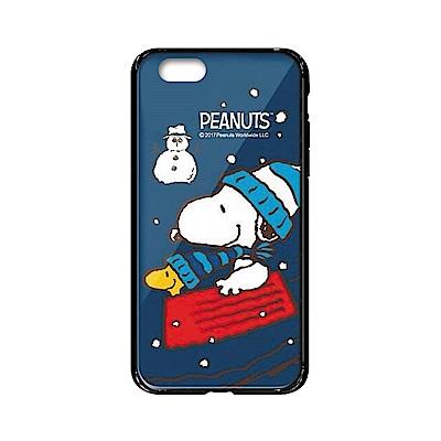 史努比SNOOPY正版授權iPhone6/6s雙料玻璃防摔殼