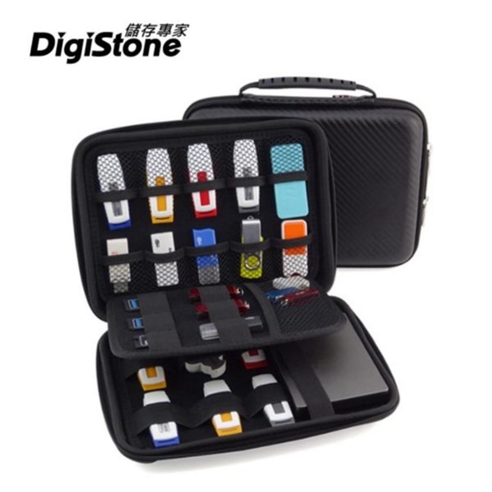 DigiStone 23格裝 3C多功能手提收納包(適用隨身卡碟/硬碟/行動電源)-黑色