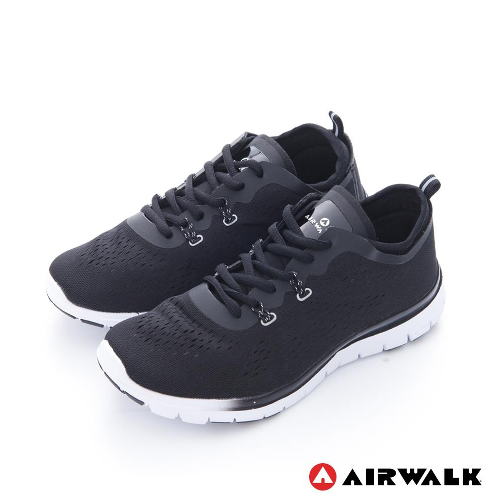 美國 AIRWALK透氣輕量慢跑鞋運動鞋-女(黑)