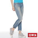 EDWIN 隨意率性 MISS NEW 503小直筒-女款(拔淺藍)