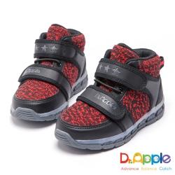 Dr. Apple 機能童鞋 保暖毛尼發光短靴童鞋-紅