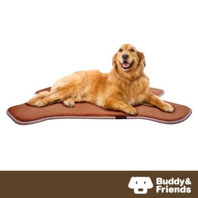 【Buddy&Friends】寵物骨頭造型墊 淺咖啡L (71x107cm)