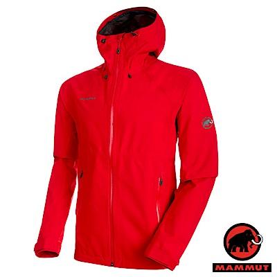【MAMMUT 長毛象】男 Gore-Tex 2.5層頂級防水透氣風雨衣_岩漿紅