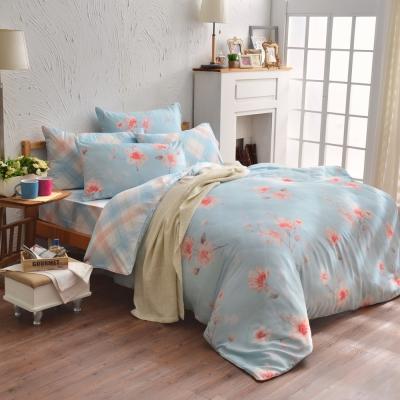 櫻色的微風-天絲-加大四件式兩用被床包組