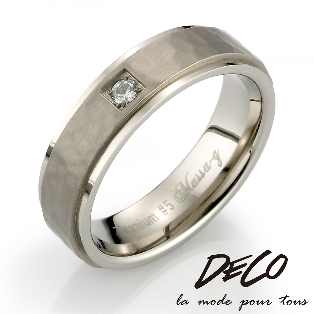 DECO X MASSA-G Double Ring【Promise】鈦金女戒 product image 1