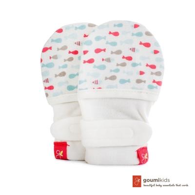 美國 GOUMIKIDS 有機棉嬰兒手套 (小魚群-甜心)